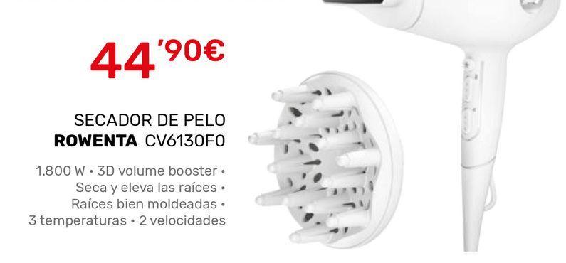 Oferta de Secador Rowenta por 44,9€