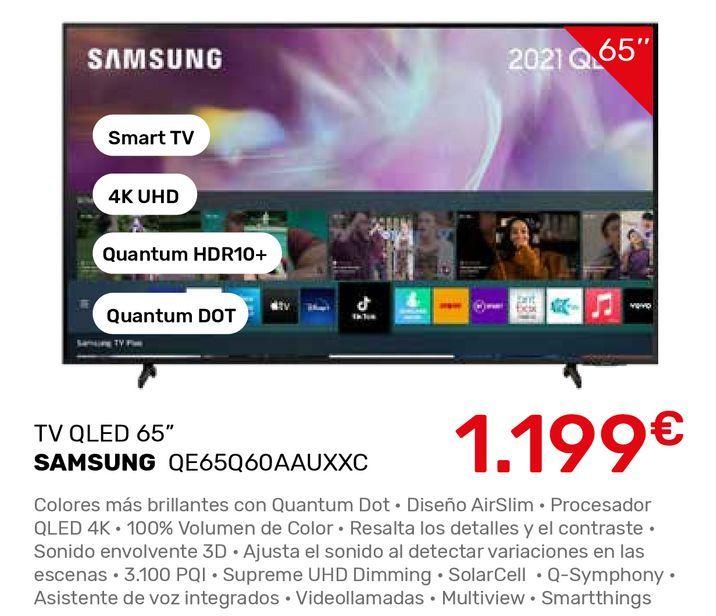Oferta de Smart tv Samsung por 1199€