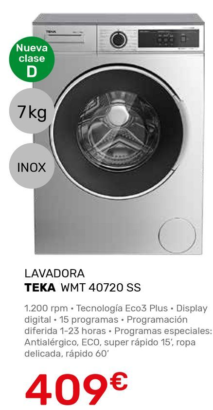 Oferta de Lavadoras Teka por 409€