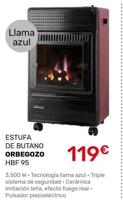 Oferta de Estufa de butano Orbegozo por 119€