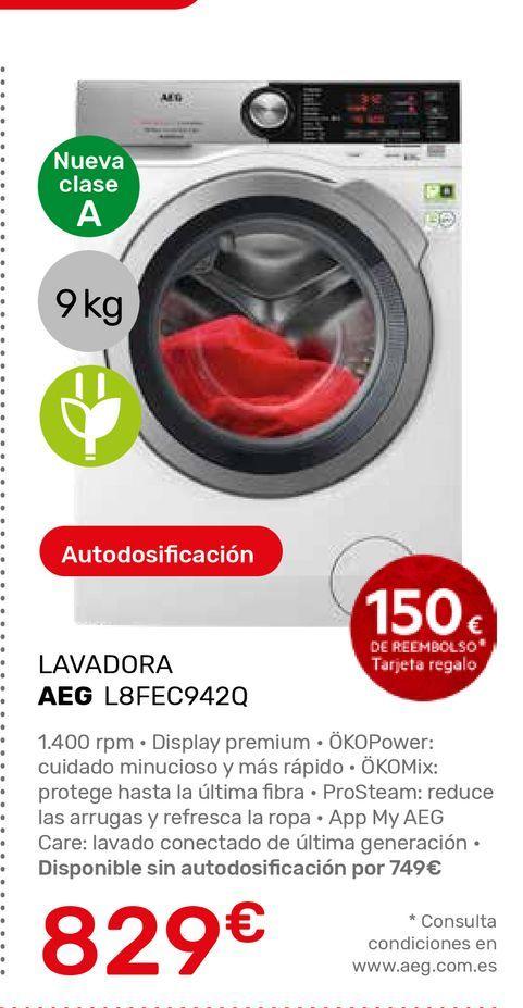 Oferta de Lavadora carga frontal AEG por 829€