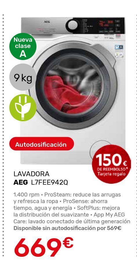 Oferta de Lavadora carga frontal AEG por 669€