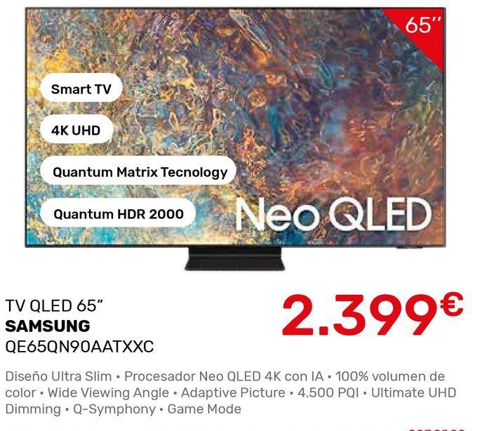 Oferta de Smart tv Samsung por 2399€
