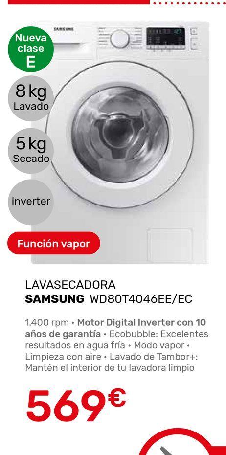 Oferta de Lavadora secadora Samsung por 569€
