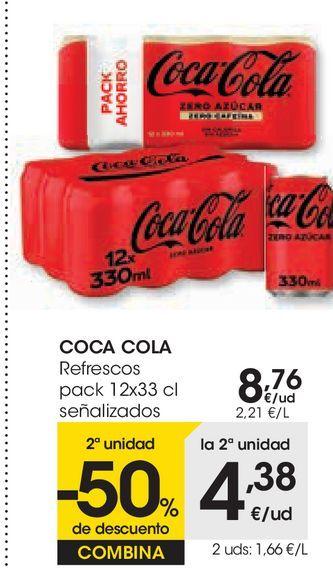 Oferta de COCA COLA Refresco  por 8,76€