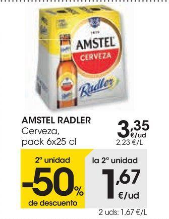 Oferta de Las cervezas AMSTEL y AMSTEL  por