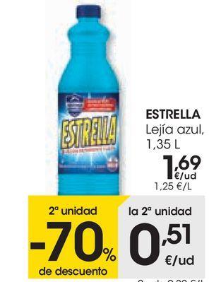 Oferta de ESTRELLA Lejía con detergente señalizados  por 1,69€