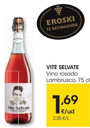 Oferta de VITE SELVATE Vino rosado Lambrusco  por 1,69€