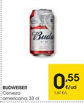 Oferta de BUDWEISER Cerveza americana  por 0,55€