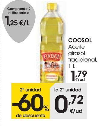 Oferta de COOSOL Aceite girasol tradicional  por 1,79€