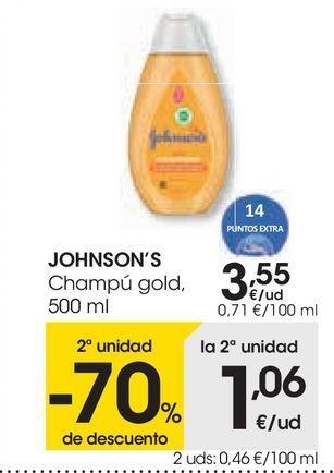 Oferta de Los productos infantiles JOHNSON'S señalizados  por 3,55€