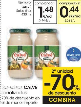 Oferta de Las salsas CALVÉ Señalizadas  por