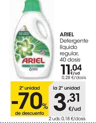 Oferta de Detergente líquido regular ARIEL  por 11,04€