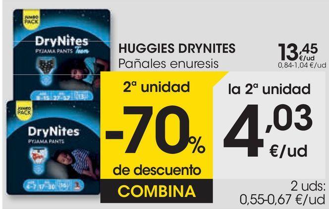 Oferta de HUGGIES DRYNITES Pañales enuresis  por 13,45€