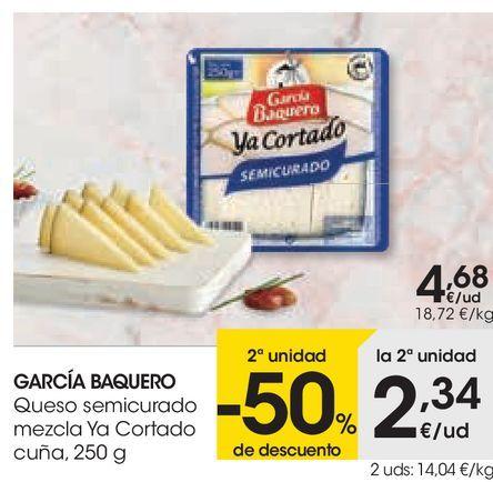 Oferta de GARCÍA BAQUERO Queso semicurado mezcla Ya Cortado  por 4,68€