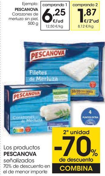 Oferta de PESCANOVA Corazones de merluza sin piel por 6,25€