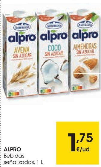 Oferta de ALPRO Bebidas señalizadas por 1,75€