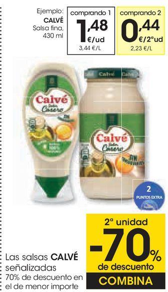 Oferta de CALVÉ Salsa fina por 1,48€