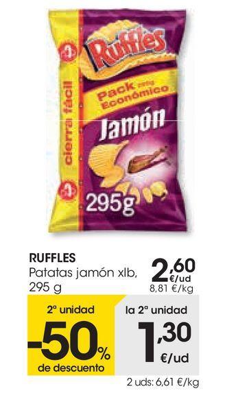Oferta de RUFFLES Patatas jamón  por 2,6€