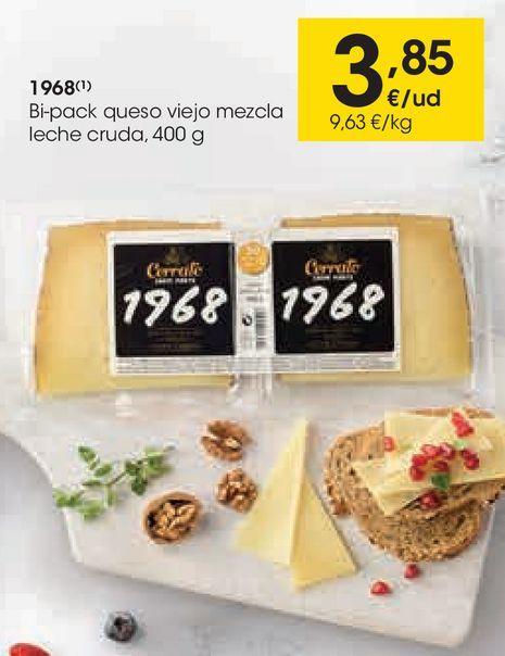 Oferta de 1968 Bi-pack queso viejo mezcla leche cruda  por 3,85€