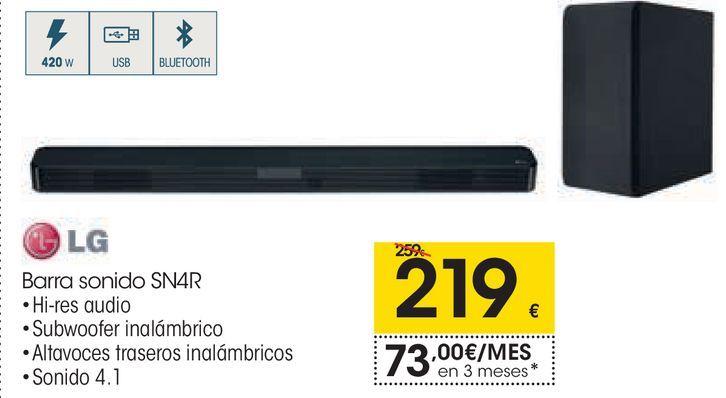 Oferta de Barra sonido S4NR LG  por 219€