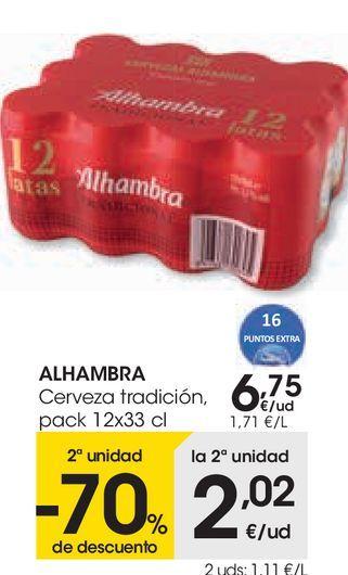 Oferta de ALHAMBRE Cerveza tradición  por 6,75€