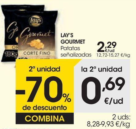 Oferta de LAY'S GOURMET Patatas señalizadas por 2,29€