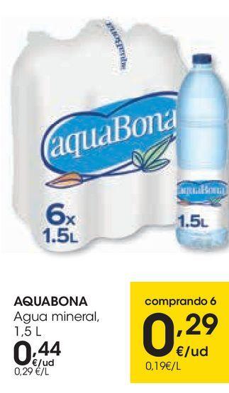 Oferta de AQUBONA Agua mineral  por 0,44€