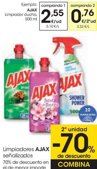 Oferta de Limpiadores AJAX señalizados  por