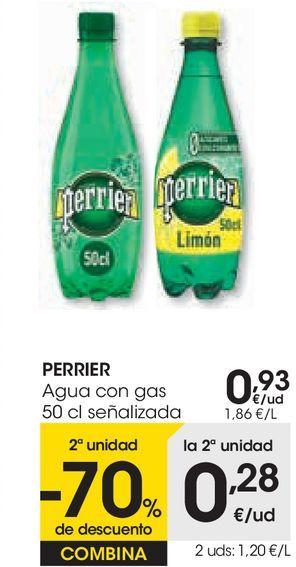 Oferta de PERRIER Agua con gas  por 0,93€