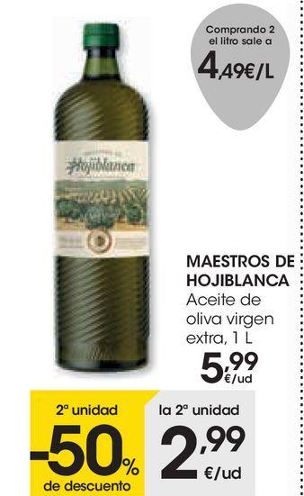 Oferta de MAESTROS DE HOJIBLANCA Aceite de oliva virgen extra por 5,99€