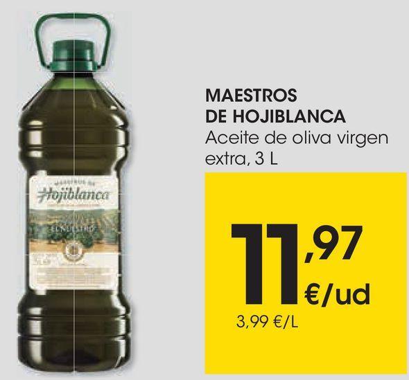 Oferta de MAESTROS DE HOJIBLANCA Aceite de oliva virgen extra por 11,97€