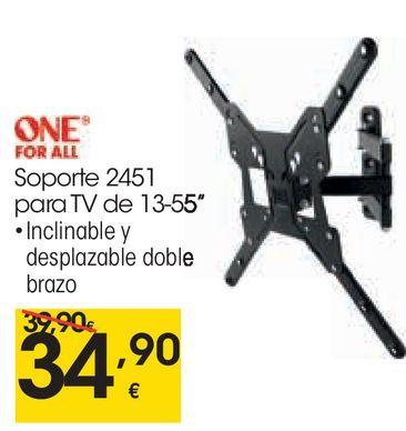 Oferta de ONE FOR ALL Soporte 2451 para Tv de 13-55  por 34,9€