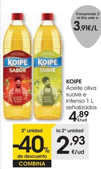 Oferta de KOIPE Aceite oliva suave e intenso señalizados por 4,89€