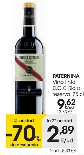 Oferta de PATERNINA Vino tinto D.O.C Rioja reserva  por 9,62€