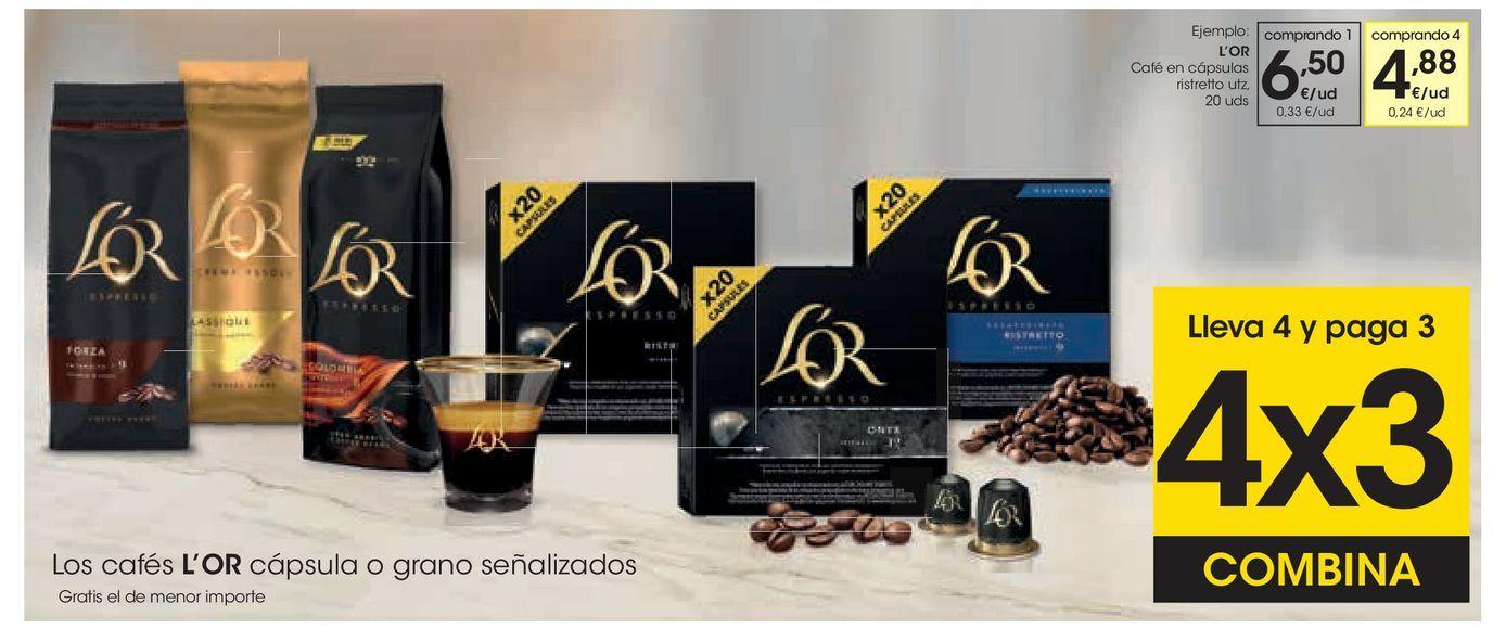 Oferta de L'OR Café en cápsulas ristretto  por 6,5€
