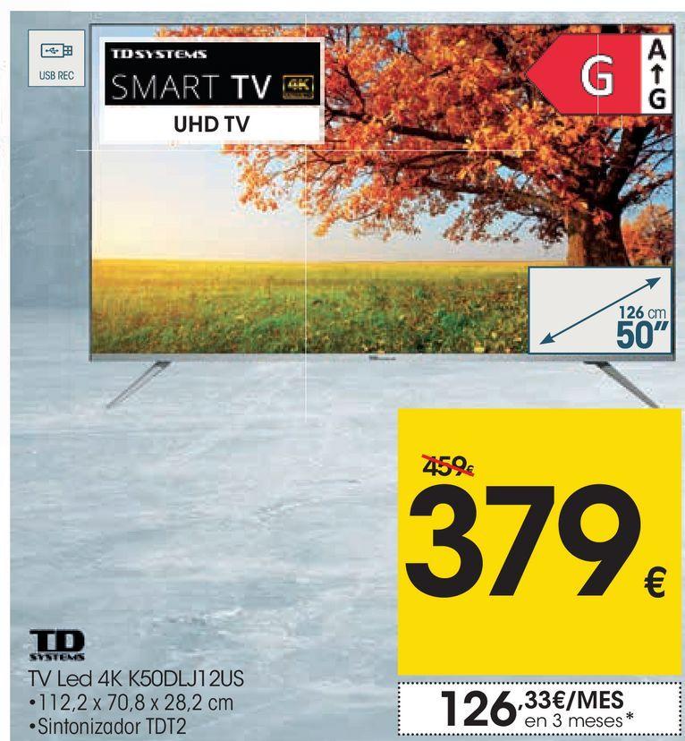 Oferta de TD SYSTEMS TV led 4K K50DLJ12US  por 379€