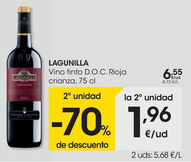 Oferta de LAGUINILLA Vino tinto D.O.C Rioja crianza  por 6,55€