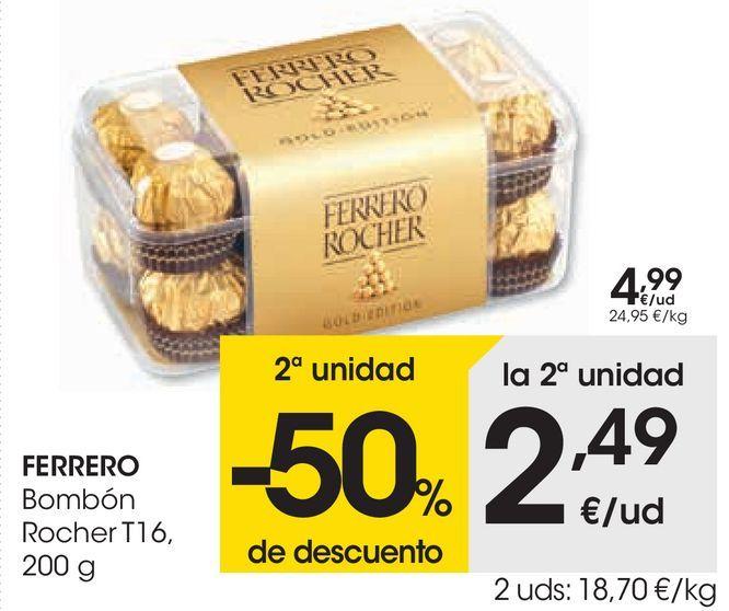 Oferta de FERRERO Bombón Rocher  por 4,99€