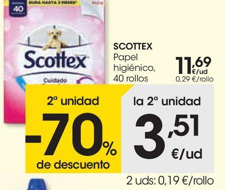Oferta de SCOTTEX Papel higiénico por 11,69€