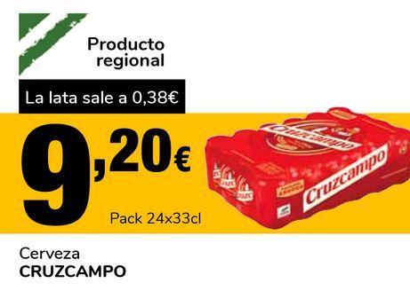 Oferta de Cerveza CRUZCAMPO por 9,2€