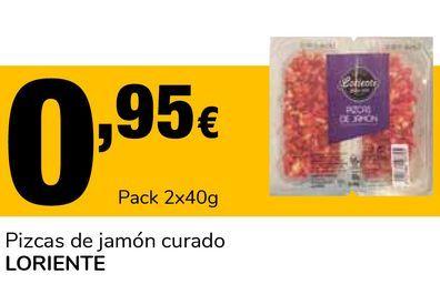 Oferta de Pizcas de jamón curado LORIENTE por 0,95€