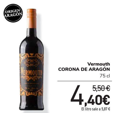 Oferta de Vermouth CORONA DE ARAGÓN por 4,4€