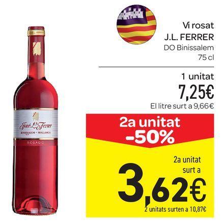Oferta de Vi rosat J.L FERRER por 7,25€