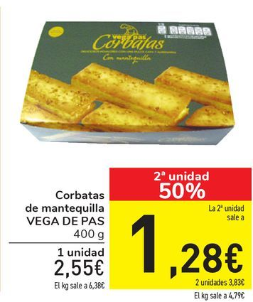 Oferta de Corbata de mantequilla VEGA DE PAS por 2,55€