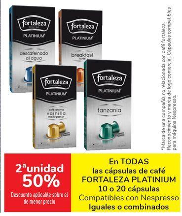 Oferta de En TODAS las cápsulas de café FORTALEZA PLATINUM Compatibles con Nespresso por