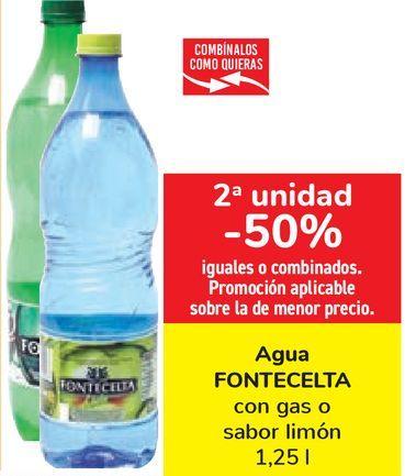 Oferta de Agua FONTECELTA con gas o sabor limón por