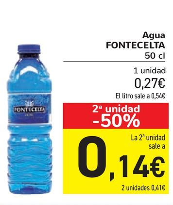 Oferta de Agua FONTECELTA  por 0,27€
