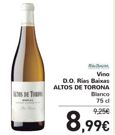 Oferta de Vino D.O. Rías Baixas ALTOS DE TORONA por 8,99€