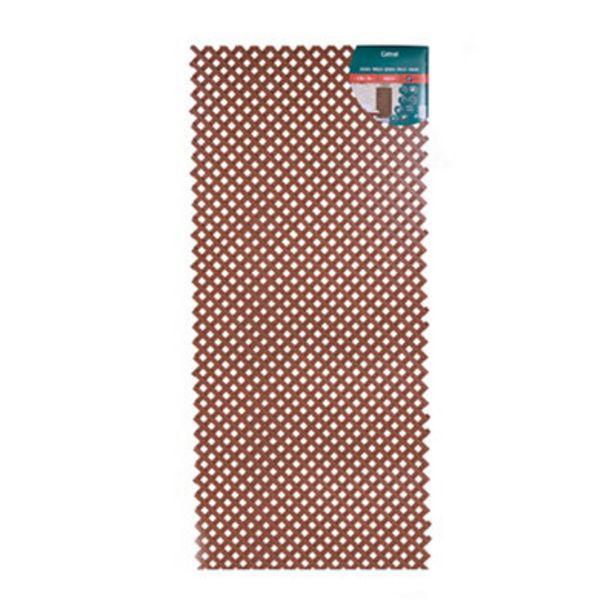 Oferta de Celosía fija marrón 177x78 cm por 16,9€